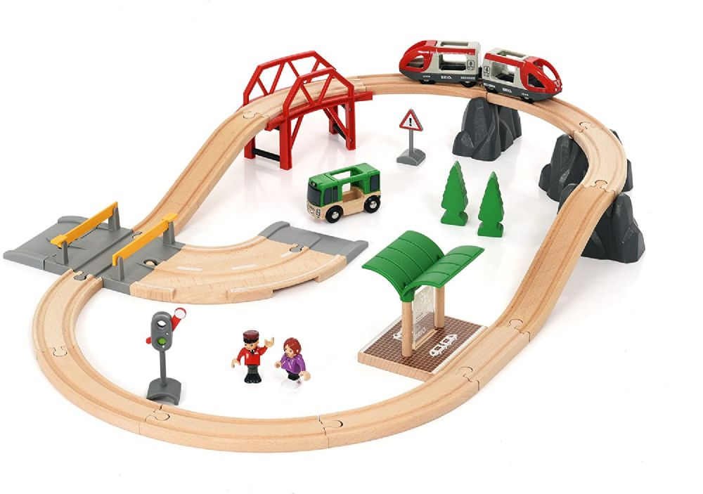 BRIO World AB 33915 - Rail and Road City Set, Train set, multicoloured